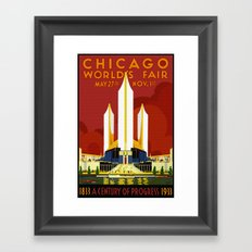 1933 Chicago World's Fair Framed Art Print