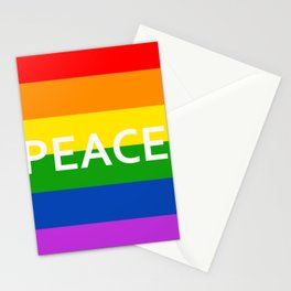 LGBT Pride Flag Peace Stationery Cards
