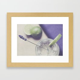 Lavender and Lime Framed Art Print