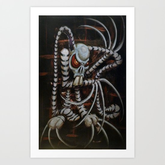 NIghtmare Bunny-Rabbit Art Print