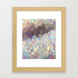 Iridescent Aura Crystals Framed Art Print
