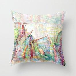 Vegetal color chaos Throw Pillow