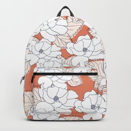 Floral Peony Stencil Backpack