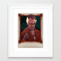 sopranos Framed Art Prints featuring The Sopranos-Paulie 'Walnuts' Gualtieri by Philipp Banken