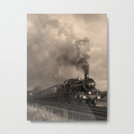 Rood Ashton Hall steam locomotive on the move Metal Print