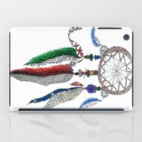 dreamcatcher iPad Cases featuring Dreamcatcher by Ina Spasova puzzle