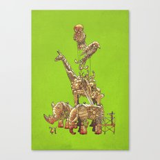The Clockwork Menagerie (Lime) Canvas Print