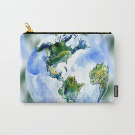 Hand Drawn Earth Carry-All Pouch