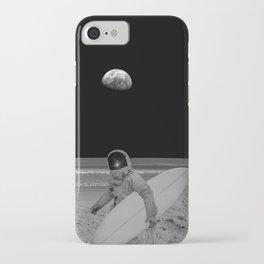 Moon surfer iPhone Case