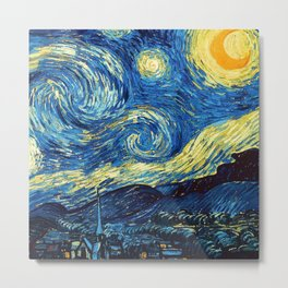 "Vincent van Gogh ""The Starry Night"" Metal Print"