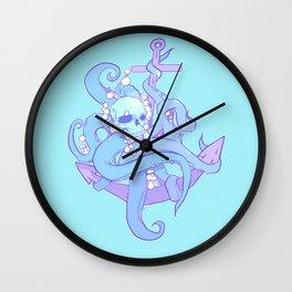 From below skull Wall Clock