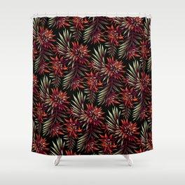 Aechmea Fasciata - Dark Orange / Purple Shower Curtain