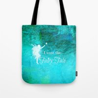 fairy tale Tote Bags featuring Fairy Tale by Veronica Ventress