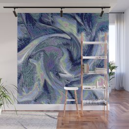 Blue Marble Abstract  Background Wall Mural
