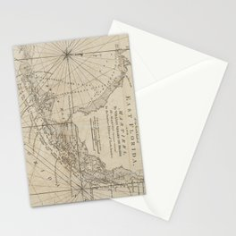 Vintage Map of The Florida Keys (1771) Stationery Cards