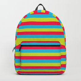 funny stripes colorful pattern Backpack