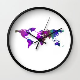 World Map QQ Wall Clock