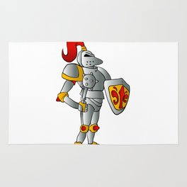 Cartoon knight. Rug