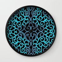 celtic Wall Clocks featuring celtic blue by Ariadne