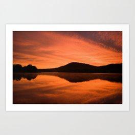 Dawn on Fire: Lac du Saint Sacrement Art Print