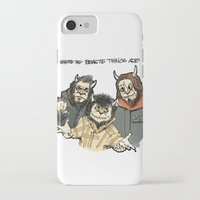 beastie boys iPhone & iPod Cases featuring Where The Beastie Things Are by Derek Salemme