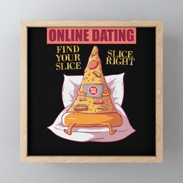 Pizza Online Dating Framed Mini Art Print