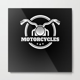 Motor Racing Bike Car Metal Print