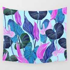 Lush Lily - cool brights Wall Tapestry