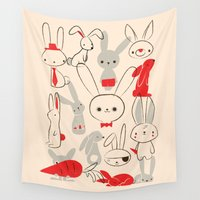 bunnies Wall Tapestries featuring Bunnies by Jay Fleck