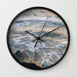 Waves crashing on rock | Annapolis, MD Wall Clock