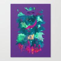 life aquatic Canvas Prints featuring Life Aquatic by Xavier Palin