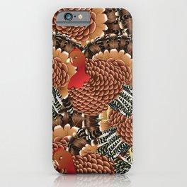 Cartoon turkey iPhone Case