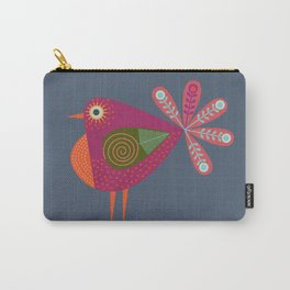 Red fantailed Folk Bird Carry-All Pouch