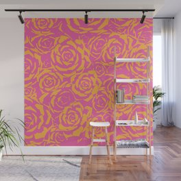 Succulent Stamp - Pink & Orange #315 Wall Mural