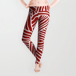 Abstract Navy Red & White Lines and Triangles Pattern- Mix and Match with Leggings