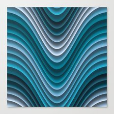 Organic Undulations (teal) Canvas Print