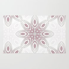 Feathers, Geometric Pattern in Mauve and Grey Rug