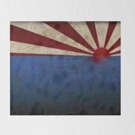 Rising sun on sea Throw Blanket