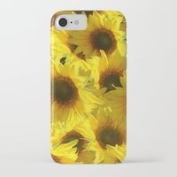 sunflowers iPhone & iPod Cases featuring Sunflowers by LLL Creations