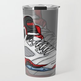 jordan 5 - fire reds Travel Mug