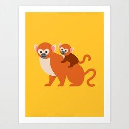 Monkey baby Art Print