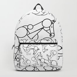Geo-Horse Collage Backpack