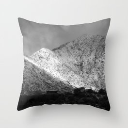 Clouds and Snow Throw Pillow