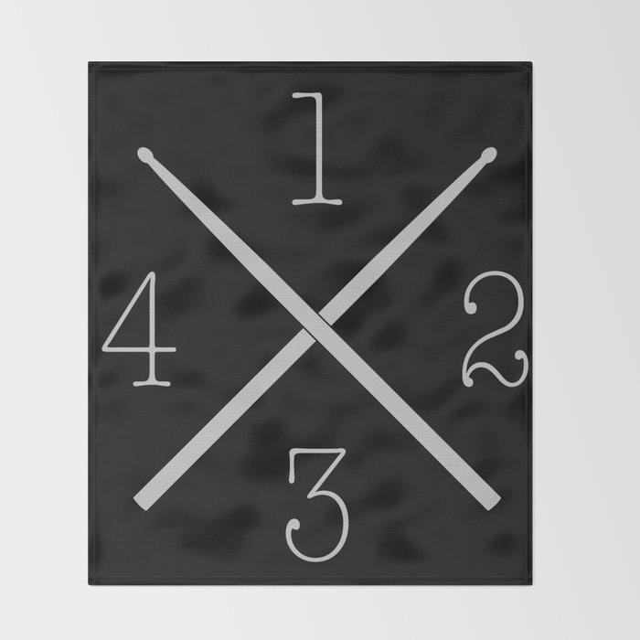 Drum 1,2,3,4... Throw Blanket