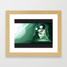 The green punk Framed Art Print