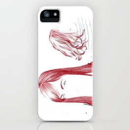 Red Girl iPhone Case