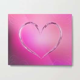 Water heart Metal Print