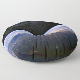 Earth is Round Floor Pillow
