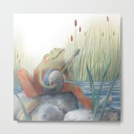 Banjo Frog Metal Print
