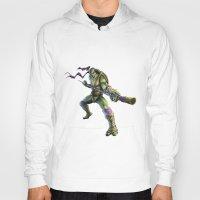 ninja turtles Hoodies featuring Ninja Turtles: Donatello  by Michele Giorgi